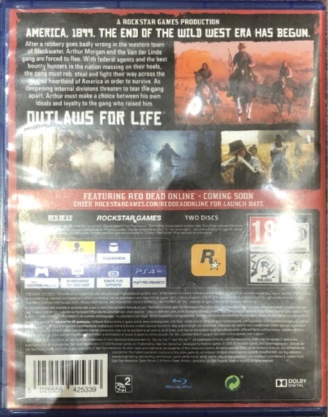 Used Red Dead Redemption 2 PS4 game RDR2 in Dubai, UAE