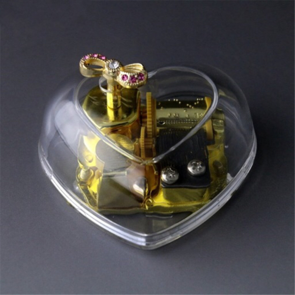 Used Clockwork acrylic music box heart shape in Dubai, UAE