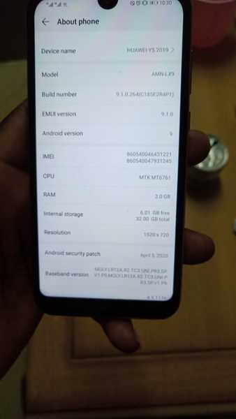 Used HUAWEI Y5 2019 version one month of use. in Dubai, UAE