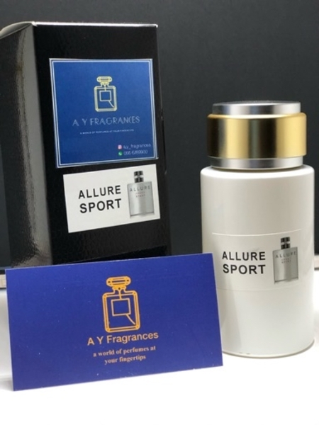 Used Allure sport mens perfume 100ml in Dubai, UAE