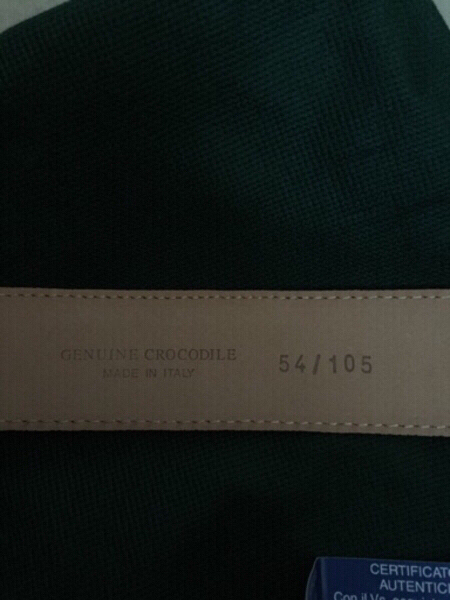 Used authentic crocodile leather belt, new in Dubai, UAE