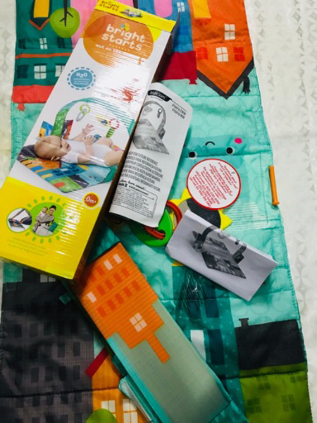 Used Mother care brand baby mat with toys in Dubai, UAE