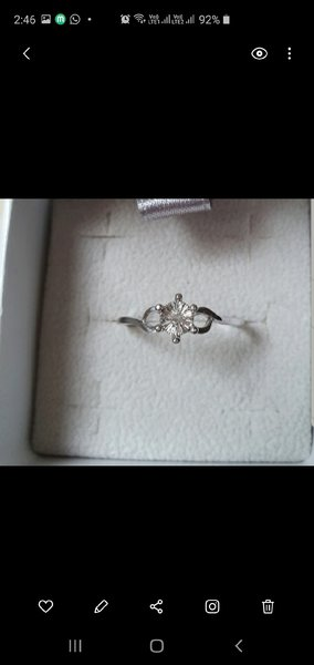 Used New real 0.02cts diamond ring in silver in Dubai, UAE