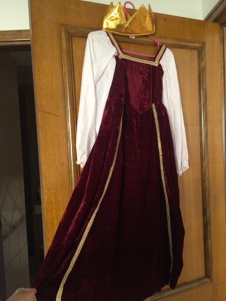 Used queen dress age 6to9 from Paris d Louvre in Dubai, UAE