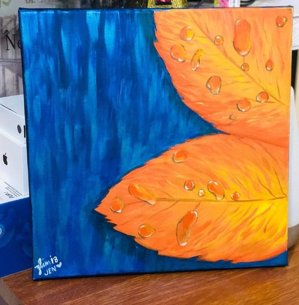 """Used """"Autumn droplets""""inspired by Home Illus. in Dubai, UAE"""