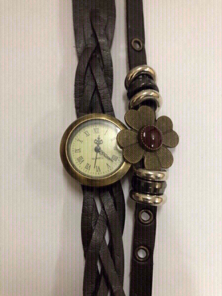 Used women brown leather watch in Dubai, UAE