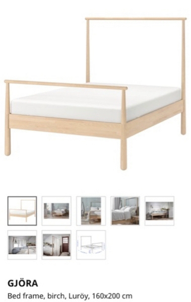 Used Bed frame with the mattress 160x200 in Dubai, UAE