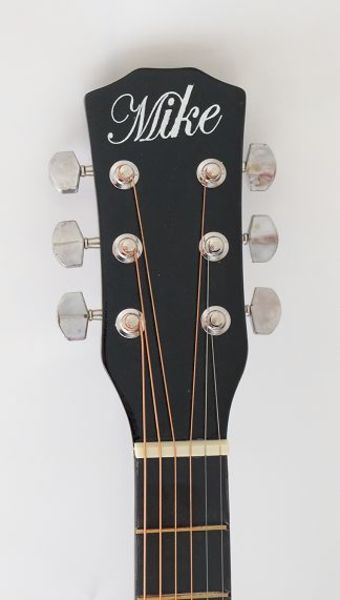 Used Brand New Acoustic black guitar in Dubai, UAE