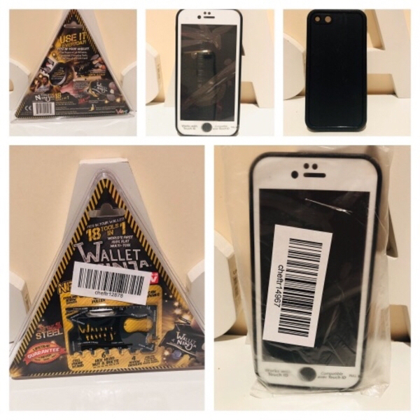 Used Wallet ninja & iPhone 7 double cover cas in Dubai, UAE