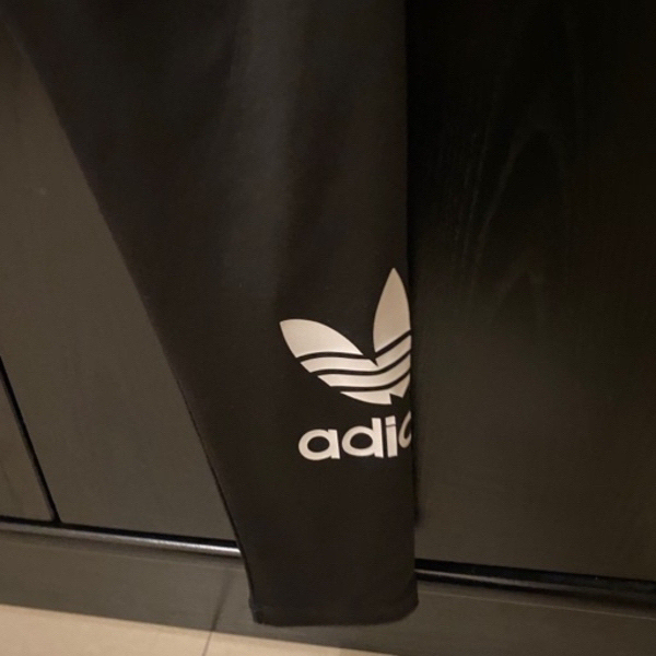 Used ADIDAS black tights size L in Dubai, UAE