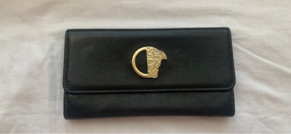 Used Black Authentic Versace Wallet in Dubai, UAE