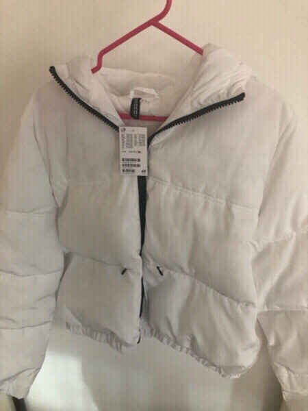 Used Brand New White Puffer Jacket from H&M in Dubai, UAE