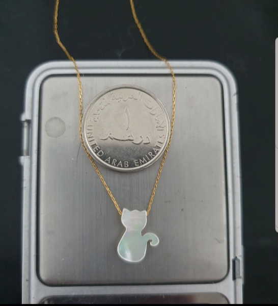 Used 10k new real gold MOP cat necklace in Dubai, UAE