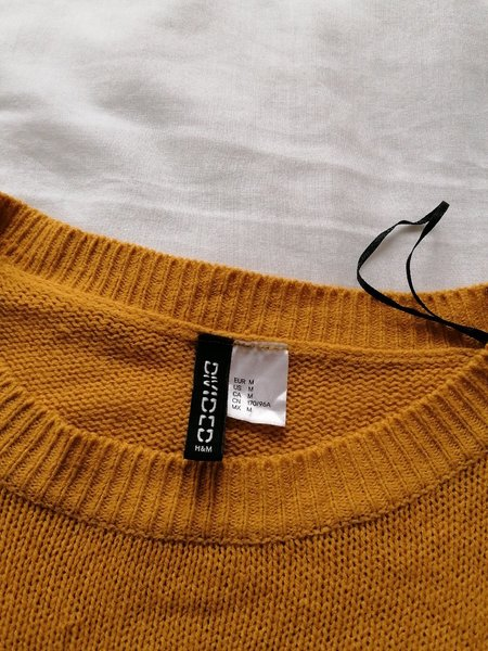 Used Yellow H&M sweater in Dubai, UAE