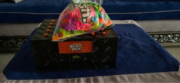 Used Blast box for playing children with ball in Dubai, UAE