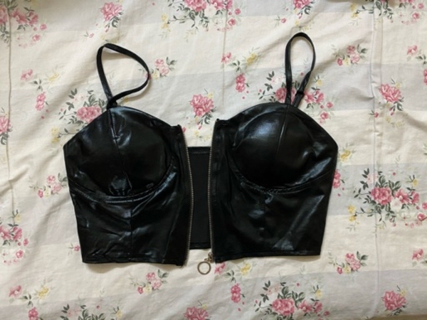 Used Leather top with zipper in Dubai, UAE
