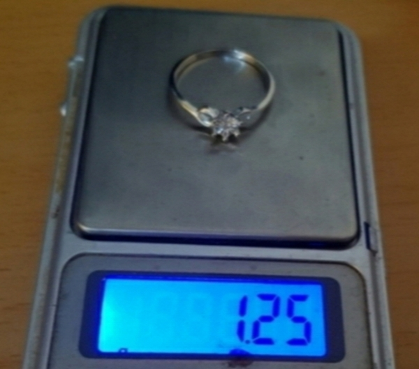 Used New real diamond 0.02cts ring in silver in Dubai, UAE