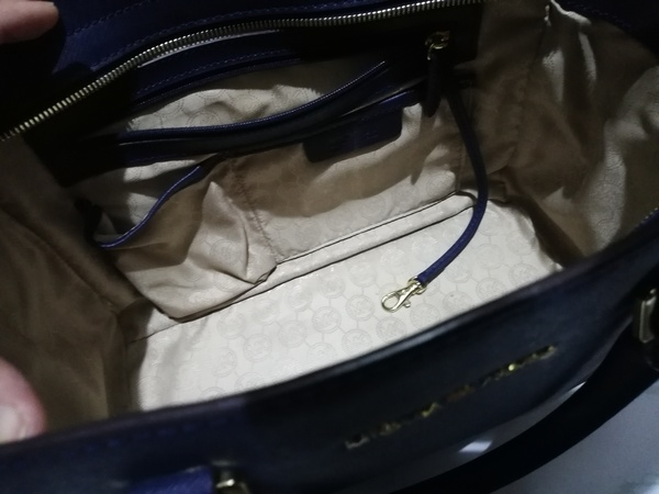 Used Michael Kors Satchel Large Top Zip Blue in Dubai, UAE
