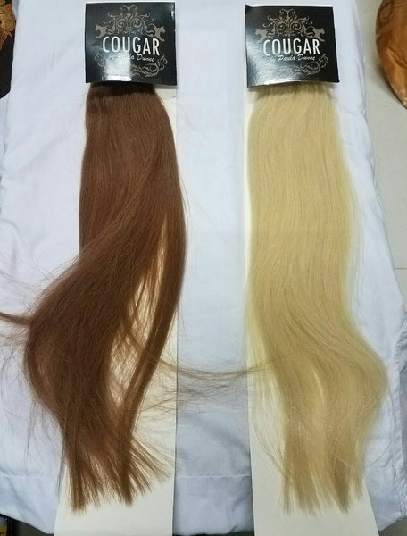 Used Clip in remy hairs two packet 18 enches in Dubai, UAE