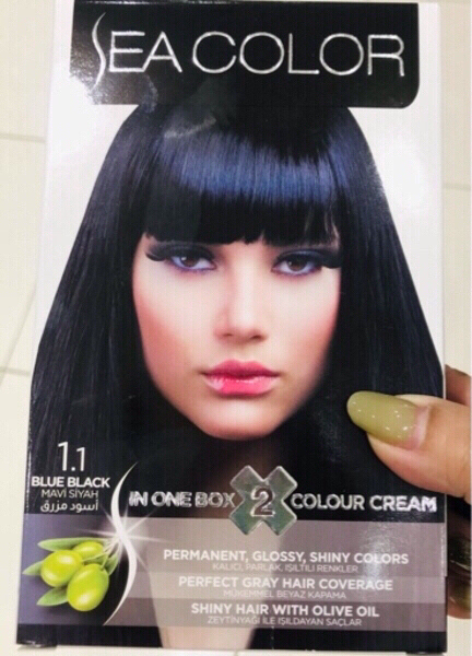 Used Hair Color Blue/Black 🔹 in Dubai, UAE