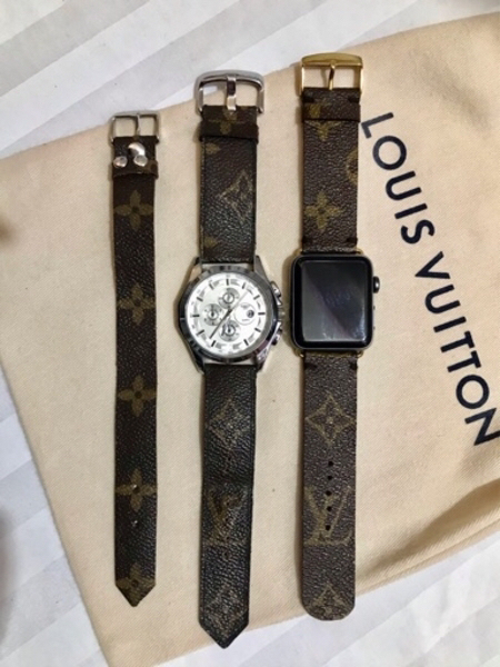 Used Authentic Upcycled LV Apple Watchband in Dubai, UAE