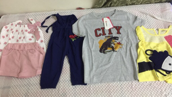 Used 19small girls dress and 4 jumpsuit 3sock in Dubai, UAE