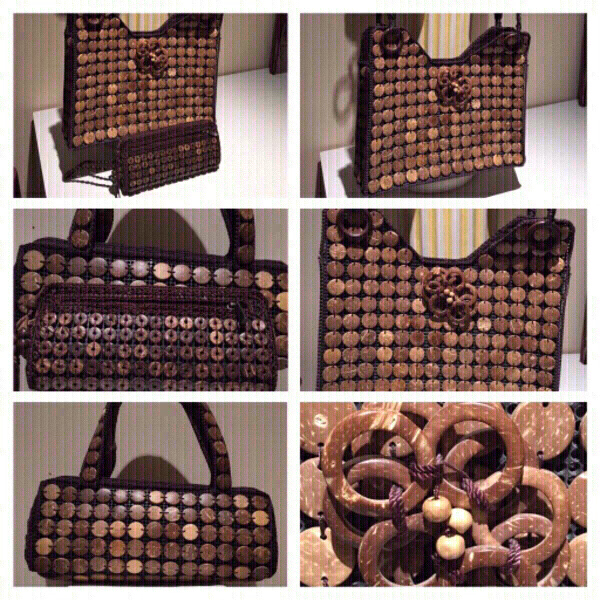 Used 3 Coconut Shell Handbags & 3 necklaces in Dubai, UAE