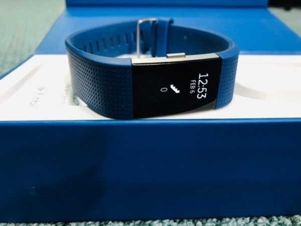 Used Fitbit Charge 2 with blue bands in Dubai, UAE