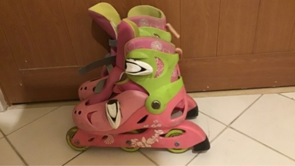 Used Pink roller skate size 35,36,37 in Dubai, UAE