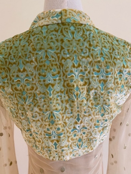 Used Good Quality Flared Long Dress In Golden in Dubai, UAE