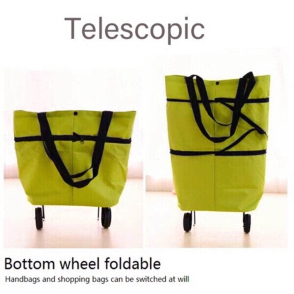 Used Foldable telescope shopping cart green in Dubai, UAE