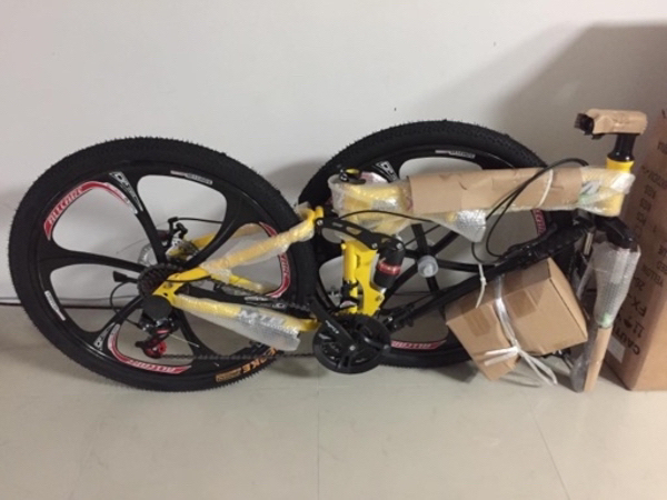 Used Brand new foldable bicycle (Yellow) in Dubai, UAE
