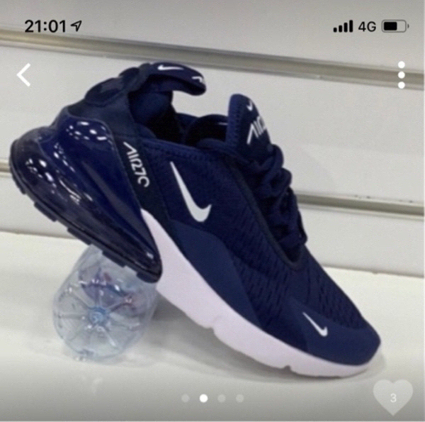 Used Nike Airmax 270 navy blue 41(size 40-45) in Dubai, UAE