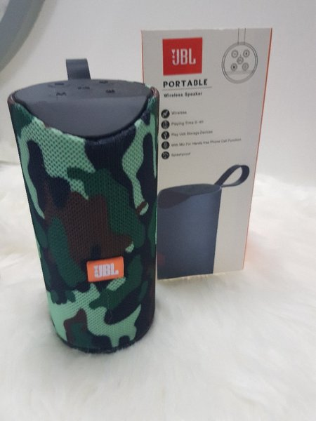 Used Army color JBL speakers small higher bas in Dubai, UAE