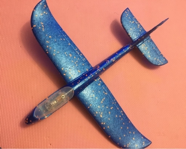 Used Plane glider for kids with led lights in Dubai, UAE
