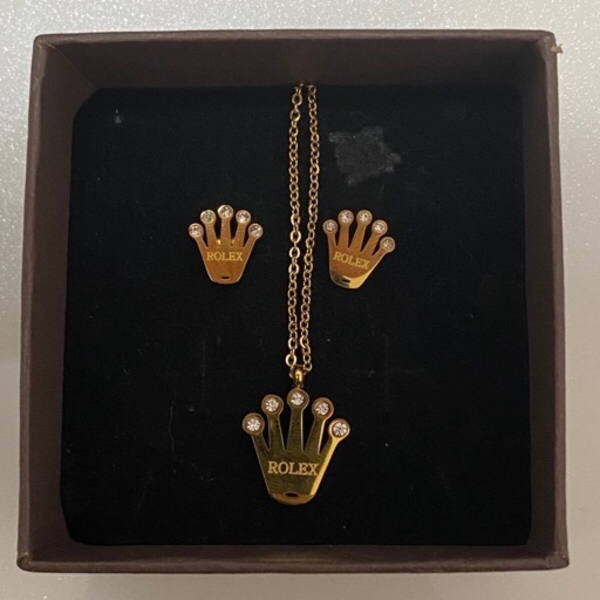 Used Rolex Necklace and earrings set in Dubai, UAE
