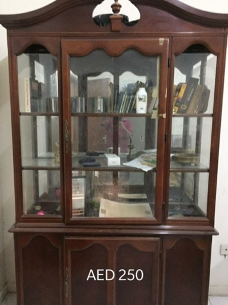 Used Wooden showcase 250 AED (direct msg) in Dubai, UAE