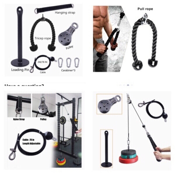 Used Pulley cable machine home gym in Dubai, UAE