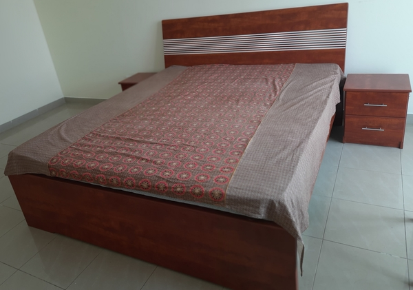 Used Master Bed with two sidetables in Dubai, UAE