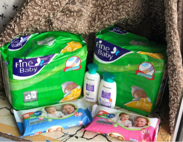 Used FineBaby diapers,baby lotion,bath &Wipes in Dubai, UAE
