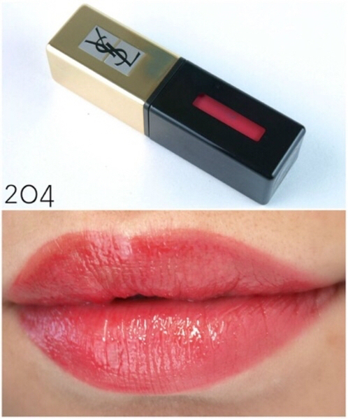 Used YSL glossy stain lipstick, shade 204 new in Dubai, UAE
