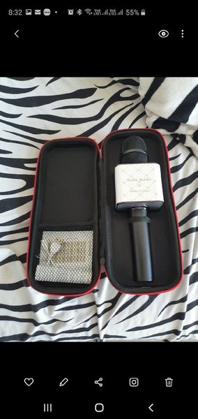 Used Karaoke microphone w carry case in Dubai, UAE