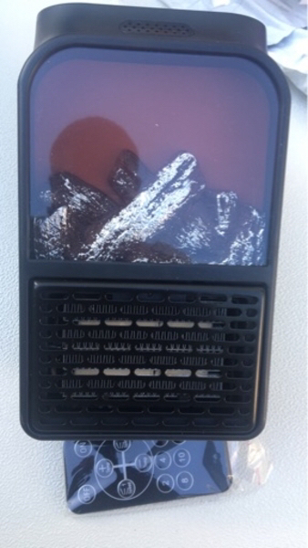 Used Wall mounted fan heater with remote in Dubai, UAE