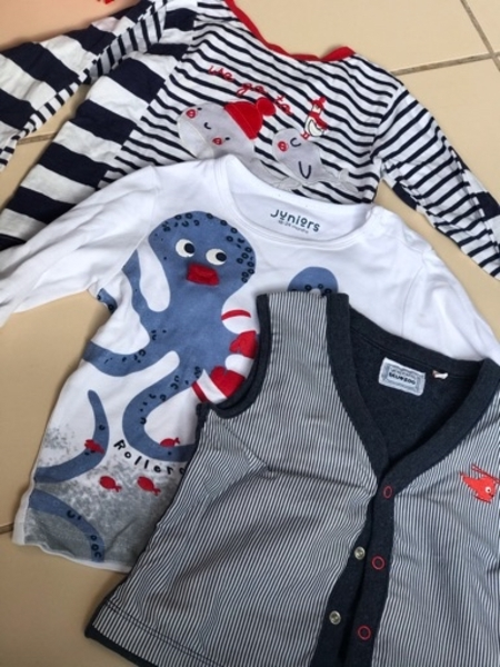 Used Clothes branded for 3-6 months boy&12-18 in Dubai, UAE