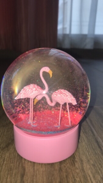 Used Beautiful Flamingo Snowglobe!! in Dubai, UAE