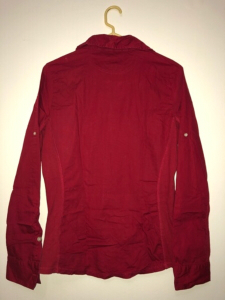 Used Converse One Star Red Ribbed Side Blouse in Dubai, UAE