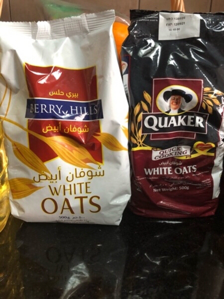 Used Organic groundnuts oil & 2 packets oats in Dubai, UAE