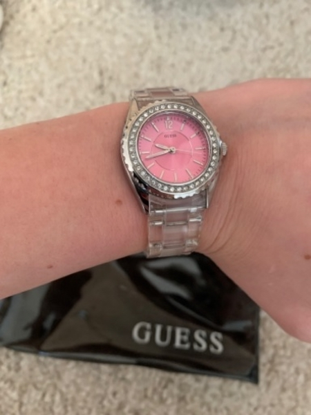 Used Guess watch pink in Dubai, UAE