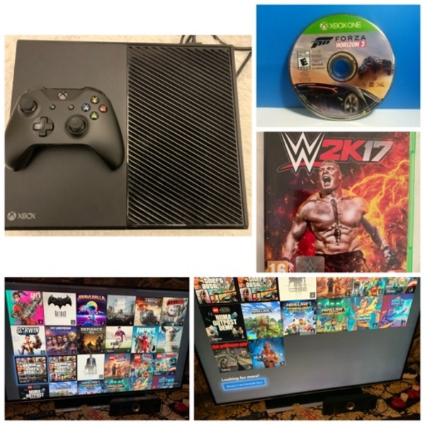 Used Xbox one 500 GB with many games in Dubai, UAE