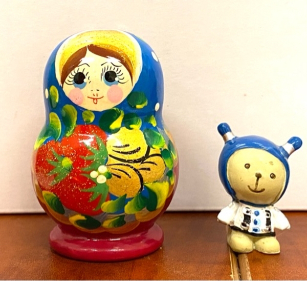 Used Matryoshka Babushka doll bear figurine in Dubai, UAE